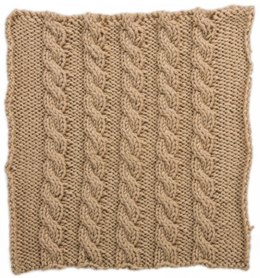 Basic Cables Square for Knit Your Cables Afghan in Red Heart Soft Solids - LW4309-B