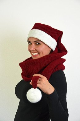Christmas Scarf Hat Crochet Pattern