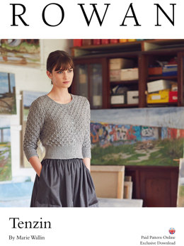 Tenzin Cardigan in Rowan Softyak DK - Downloadable PDF