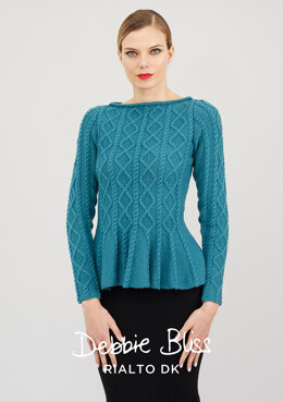 Manon Sweater in Debbie Bliss Rialto DK - DB255 - Downloadable PDF