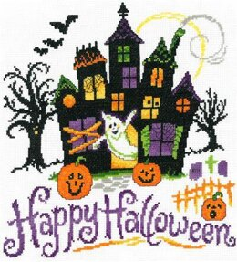 Imaginating Haunted Halloween House Cross Stitch Kit - 10.6in x 11in