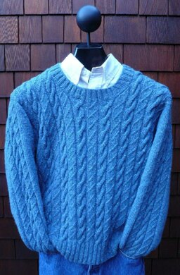 MS 212 Cabled Crewneck Pullover II