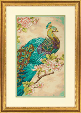 Dimensions Indian Peacock Cross Stitch Kit - 23cm x 38cm