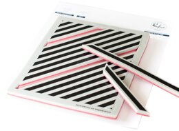 Pinkfresh Studio Cling Rubber Background Stamp Set A2 - Pop-Out Diagonal Stripes