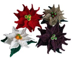 Poinsettia Applique crochet