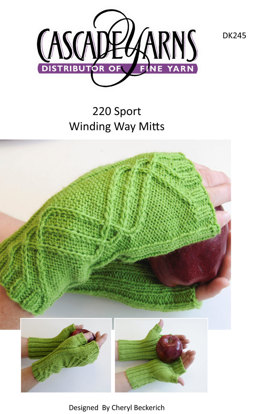 Winding Way Mitts in Cascade 220 Sport - DK245