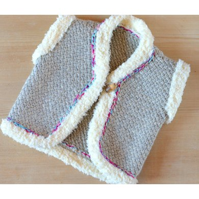 Wicker Stitch Baby Vest Knitting pattern by Caroline Brooke
