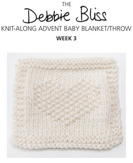 """Knit-Along Advent Baby Blanket Week 3"" -Along Advent Baby Blanket Week 3 - Blanket Knitting Pattern For Babies in Debbie Bliss Mia"