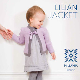 """Lilian Jacket"" - Jacket Beginners Knitting Pattern For Girls in MillaMia Naturally Soft Merino"
