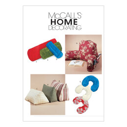 McCall's Comfort Zone Pillows & Bolsters M4123 - Paper Pattern Size All Sizes In One Envelope