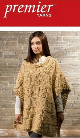 Soft Blocks Poncho in Premier Yarns Mega Tweed - Downloadable PDF