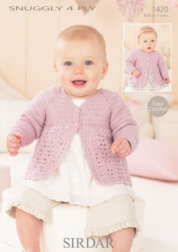 Cardigans in Sirdar Snuggly 4 ply - 1420 - Downloadable PDF
