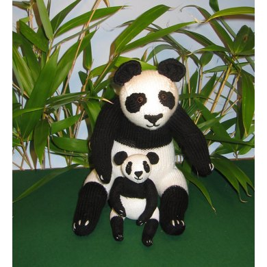 Mother and Baby Panda Toy Animals