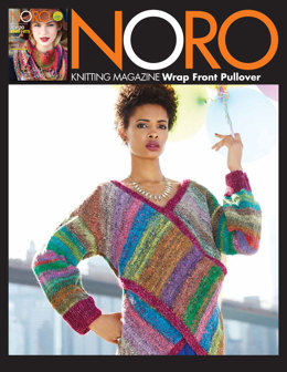 Wrap Front Pullover in Noro Hanabatake & Silk Garden Solo - 30 - Downloadable PDF