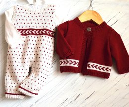 Baby All-in-one Bib Overalls with matching sweater P026
