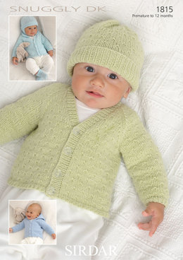 Cardigans, Hats, Mittens and Bootees in Sirdar Snuggly DK - 1815 - Downloadable PDF