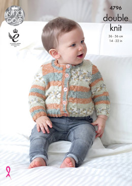 Cardigans & Waiscoats in King Cole Drifter For Baby - 4796 - Leaflet