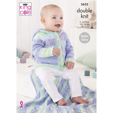 Baby Set in King Cole Cottonsoft Baby Crush DK - 5632 - Downloadable PDF