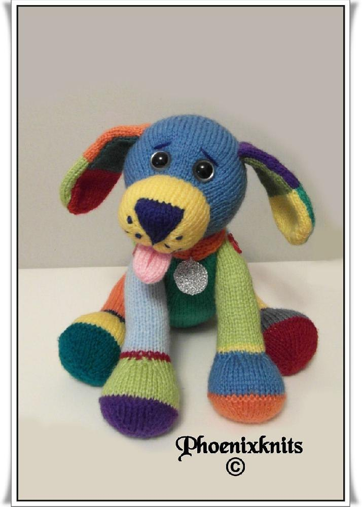 Free Knitting Pattern Toy Puppy : Jacob the puppy Knitting pattern by Phoenixknits Knitting Patterns LoveKn...