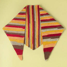 """""""The Essential Crocheted Shawl"""" - Shawl Crochet Pattern in Paintbox Yarns Chunky Pots"""