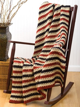 Cozy Man-Ghan Blanket in Caron Simply Soft - Downloadable PDF