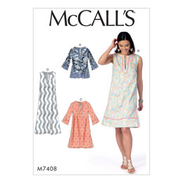 McCall's Misses' Tunic and Dresses M7408 - Sewing Pattern