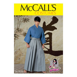 McCall's Kimono and Pleated Pants M7525 - Paper Pattern Size S-M-L-XL-XXL
