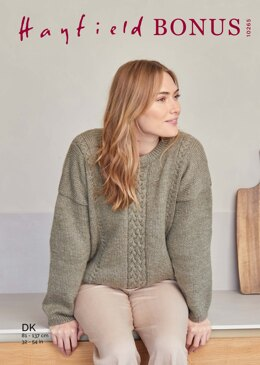 Womens Sweater in Hayfield Bonus DK - 10265 - Downloadable PDF