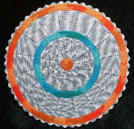 Knitting Overcast Stitch : Round Baby Blanket 4 crochet project by George of