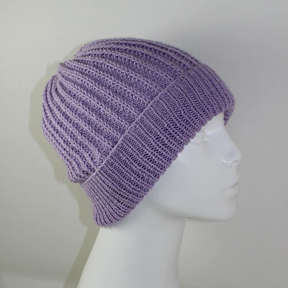 4 Ply Fishermans Rib Unisex Beanie Hat Knitting pattern by madmonkeyknits K...