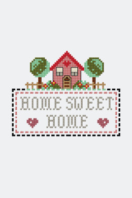 Home Sweet Home  in DMC - PAT0110 -  Downloadable PDF