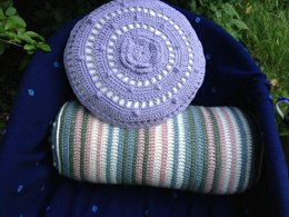'Lean On Me' Crochet Round Cushion/Bolster