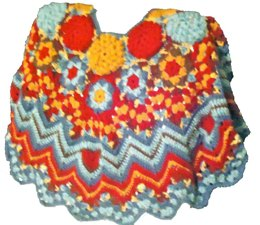 Hexagon Poncho with Ripples