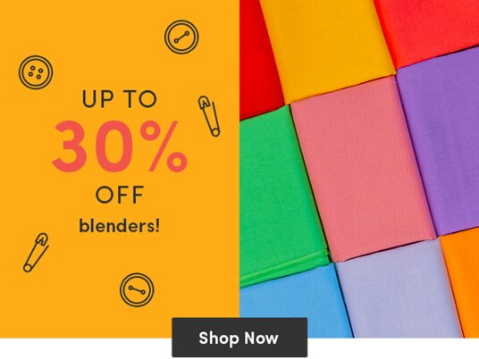 Up to 30 percent off blenders!