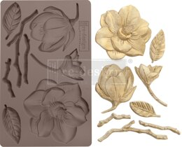 "Prima Marketing Re-Design Mould 5""X8""X8mm - Winter Blooms"