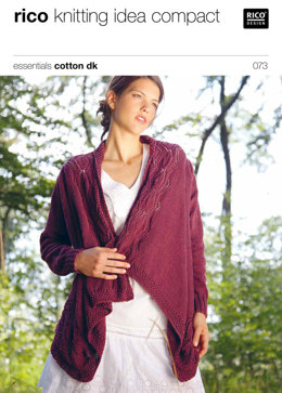 Cardigan in Rico Essentials Cotton DK - 073