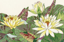 Bothy Threads Water Lily Blooms Cross Stitch Kit