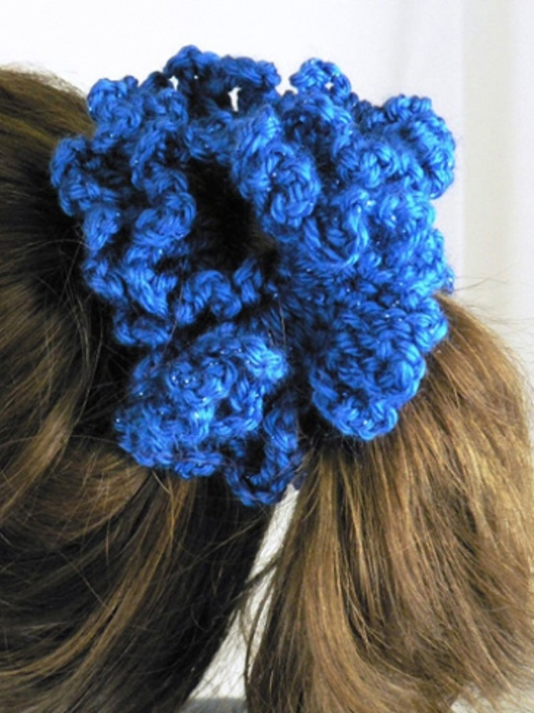 Party Hair Scrunchie In Caron Simply Soft Party
