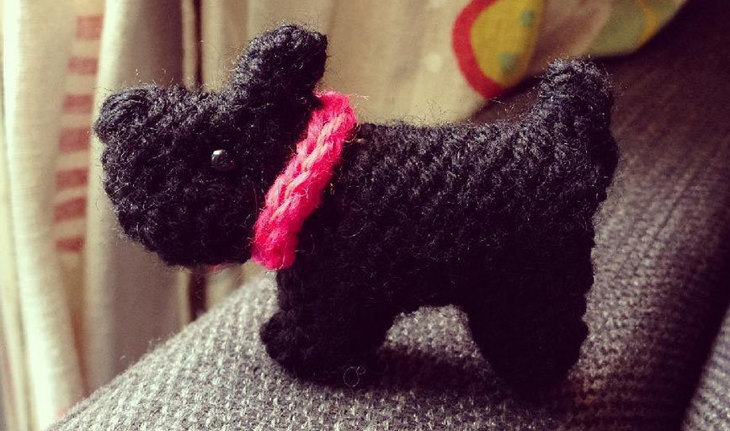 Tiny Scottie Dog by Sue Stratford