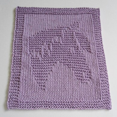 Unicorn Baby washcloth