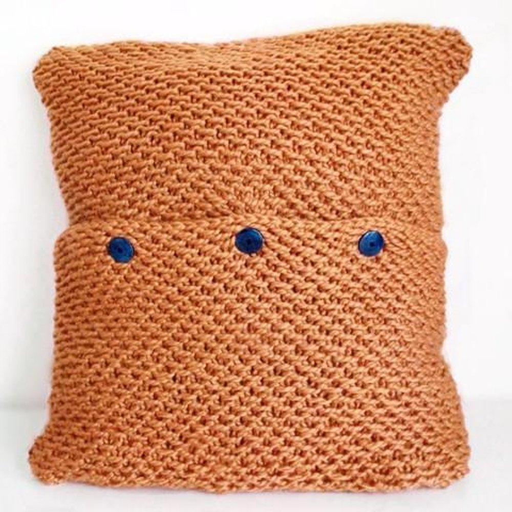 Harvest moon pillow cover knitting pattern by bluestockinette harvest moon pillow cover zoom bankloansurffo Images