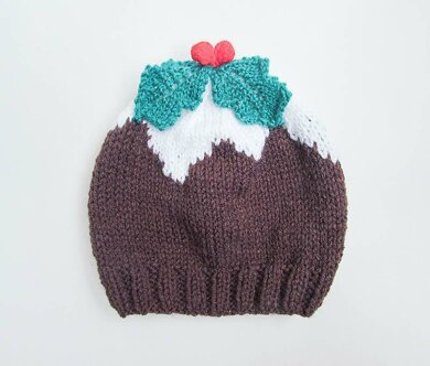 93bef44edaf Christmas Pudding Baby Beanie Hat Knitting pattern by Wistfully Woolen