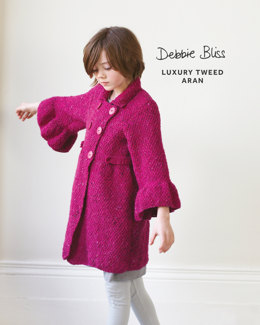 Bell Sleeved Coat in Debbie Bliss Luxury Tweed Aran - DB120 - Leaflet