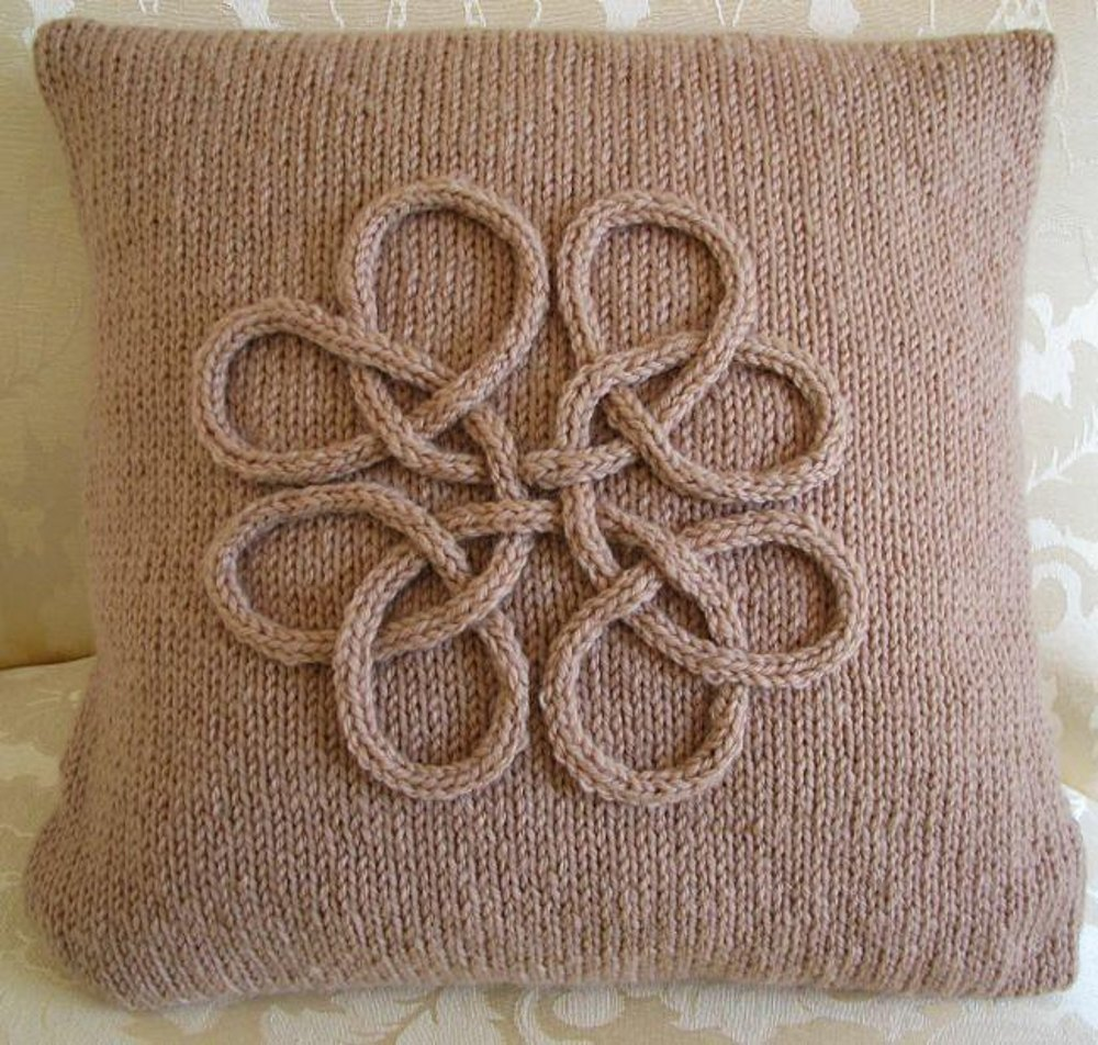 Celtic Love Knot Knitting Pattern : Celtic Knot Cushion Cover Knitting pattern by EmmaRose Crafts Knitting Patt...
