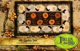 Threads That Bind Garden Tour with Printed Weaver's Cloth - TTB681 - Leaflet