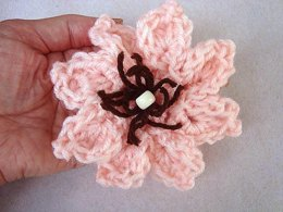588 crochet flower, sheballa, easy petal flower