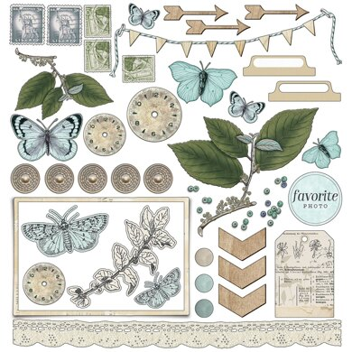 """49 And Market Collection Pack 12""""X12"""" - Vintage Artistry Sky"""
