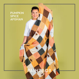 Pumpkin Spice Afghan - Free Afghan Knitting Pattern For Home in Paintbox Yarns 100% Wool Worsted by Paintbox Yarns
