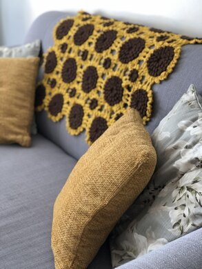 Sunflower Sofa Throw