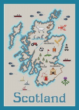 Sue Hillis Designs Scotland Map - C107 - Leaflet